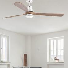 FARO Lantau-G Ventilatore da Soffitto con Luce a LED Noce