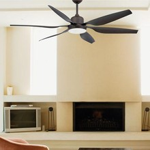 FARO Tilos 33466 Ventilatore da Soffitto con Luce Marrone