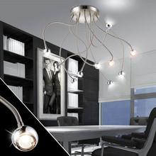 GLOBO Serpent 24109-10D Lampada Moderna da Soffitto 10 Luci LED Modellabile