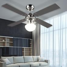 GLOBO Champion 0330S Ventilatore da Soffitto con Luce Grafite/Acero