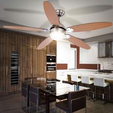 GLOBO Azura 0308 Ventilatore da Soffitto con Luce 5 Pale Faggio