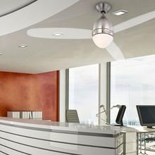 GLOBO Premier 0302 Ventilatore da Sofitto con Luce Nichel