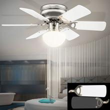 GLOBO Ugo 0307W Ventilatore da Soffitto con Luce Pale Bianco/Grafite