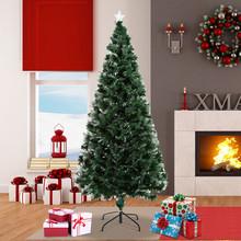 HOMCOM 830-023 Albero di Natale Artificiale 180cm con Fibre Ottiche