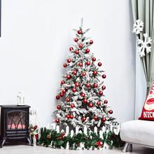 HOMCOM IT830-2470642 Albero di Natale Artificiale 180cm Effetto Neve