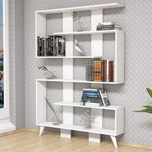 HOMEMANIA Jane Libreria Moderna in Legno da Terra 6 Ripiani