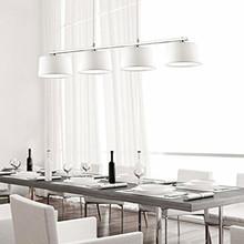 IDEAL LUX Hilton SB4 Lampadario Moderno 4 Luci Tessuto Bianco