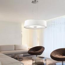 IDEAL LUX Hilton SP6 Lampadario Moderno in Tessuto Bianco