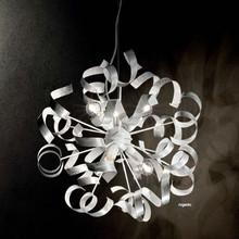 IDEAL LUX Vortex SP6 101613 Lampadario Moderno 6 Luci Argento