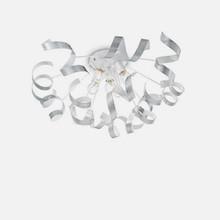 IDEAL LUX Vortex PL5 101590 Plafoniera Moderna 6 Luci Argento