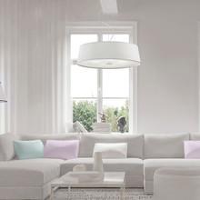 IDEAL LUX Hilton SP4 Lampadario Moderno in Tessuto Bianco