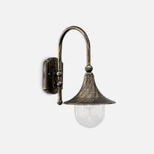 IDEAL LUX Cima AP1 24134 Applique da Esterno 1 Luce Nero e Oro