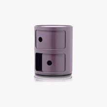 KARTELL Componibili 4966-20 Mobiletto Moderno 2 Elementi Viola