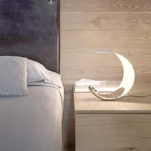 LUCEPLAN Curl Lampada di Design da Tavolo base Cromata