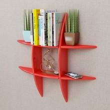 Libreria moderna da parete VidaXL In MDF Rosso