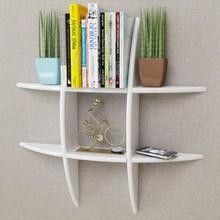 Libreria moderna da parete VidaXL In MDF Bianco
