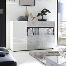 Mobiletto Moderno Nice per Ingresso e Soggiorno Bianco/Cemento