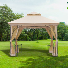 OUTSUNNY IT84C-0050641 Gazebo da Giardino 3x3mt Beige