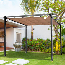 OUTSUNNY IT84C-055BK0631 Gazebo da Giardino Pergola 3x4mt