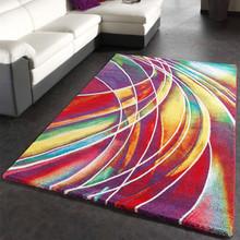 PACO HOME tappeto moderno disegno astratto mix di colori