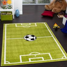 PACO HOME Tappeto per Bambini Campo da Calcio Verde