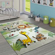 PACO HOME Tappeto per Bambini Giungla con Animali Beige e Crema