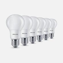 PHILIPS - 6 Lampadine a LED 8w = 60w Attacco E27 Luce Calda