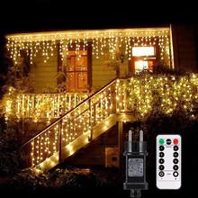 Tenda Luminosa 480 LED 10mt con 8 Giochi di Luce per Interno ed Esterno