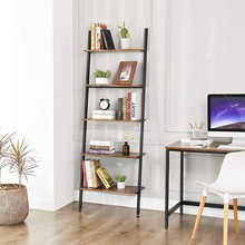 VASAGLE LLS46BX Libreria Moderna Industriale 5 Ripiani da Appoggio