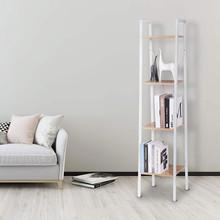 WOLTU 4-Tier Libreria Moderna da Terra 4 Ripiani Bianco