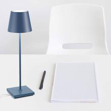 ZAFFERANO Poldina Pro Lampada da Tavolo Ricaricabile Blu