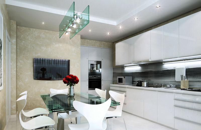 cucina moderna illuminata con stile