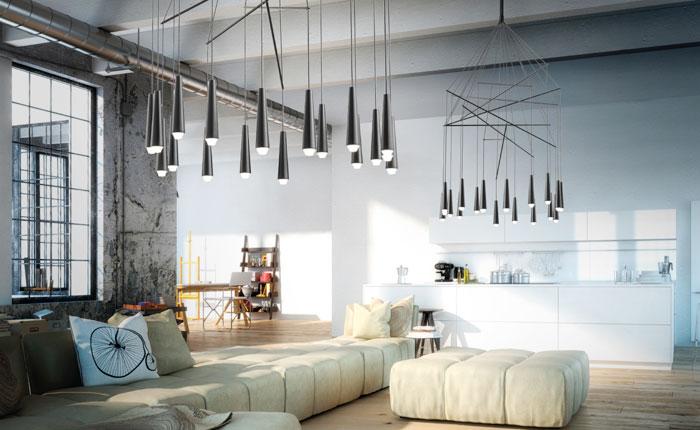 Soffitti Alti Illuminazione : Lampade per soffitti alti design casa creativa e mobili ispiratori