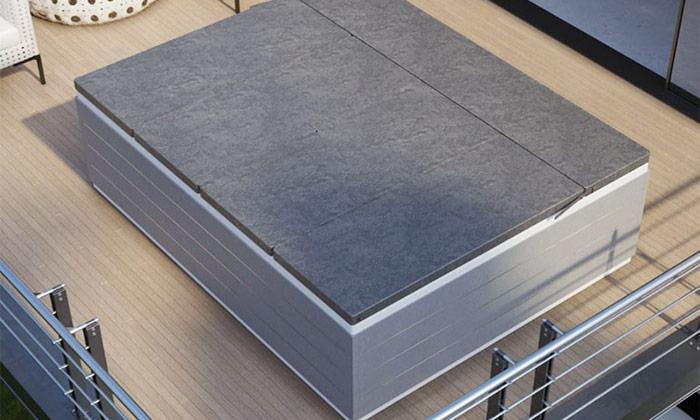 Minipiscina Spa Loft di Grandform con copertura prendisole
