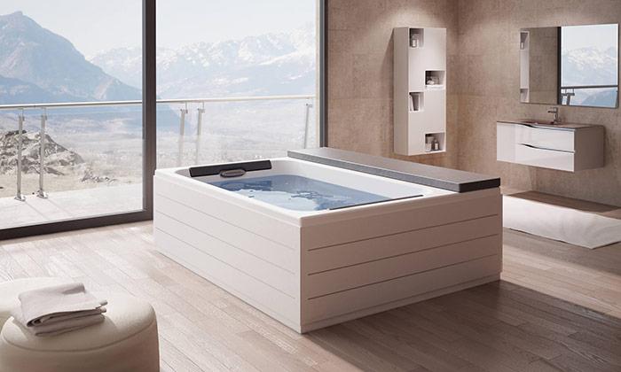 Minipiscina Spa Loft di Grandform in bagno