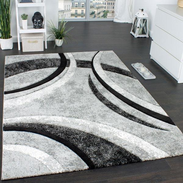 Tappeto di design Paco Home Onde grigio
