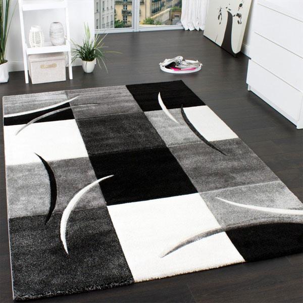 Tappeto moderno Paco Home quadri effetto marmorizzato