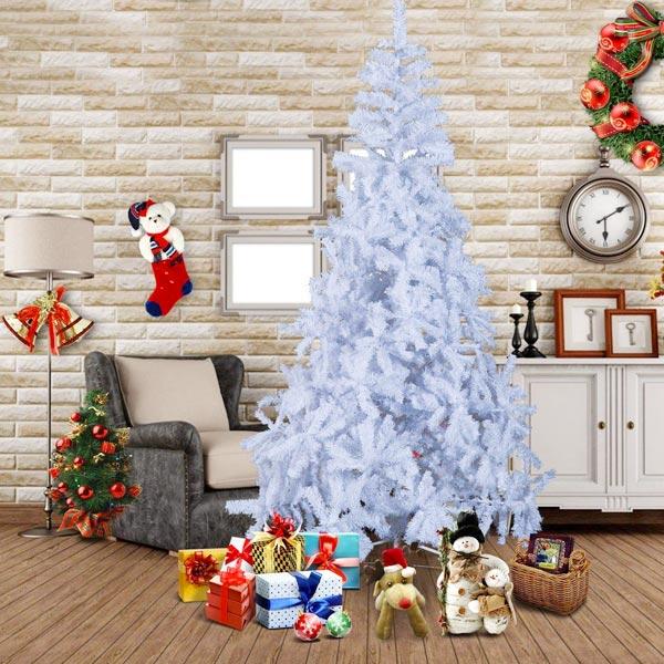 Albero di Natale Finto Bianco 210cm