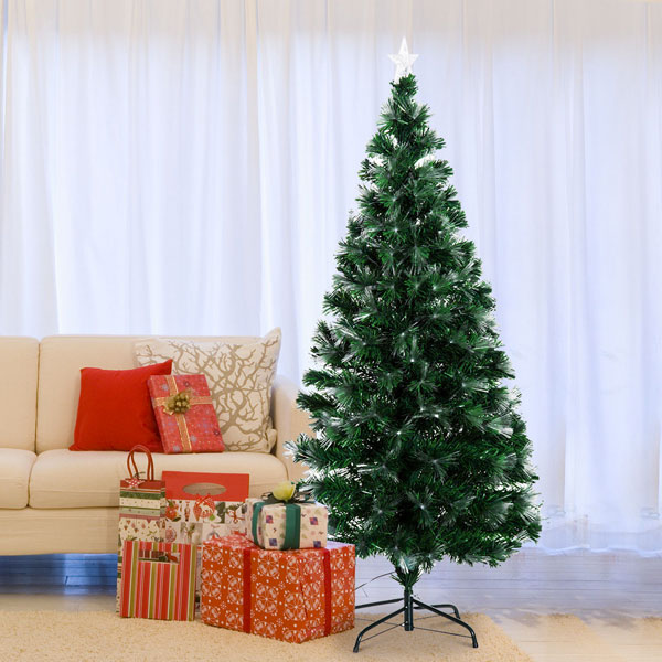 Albero di-Natale Finto 150cm in PVC HOMECOM 830-019