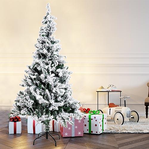 Albero di Natale finto a LED innevato