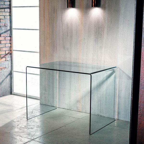 Arreda il tuo work-space con scrivania in vetro oxford chiaro