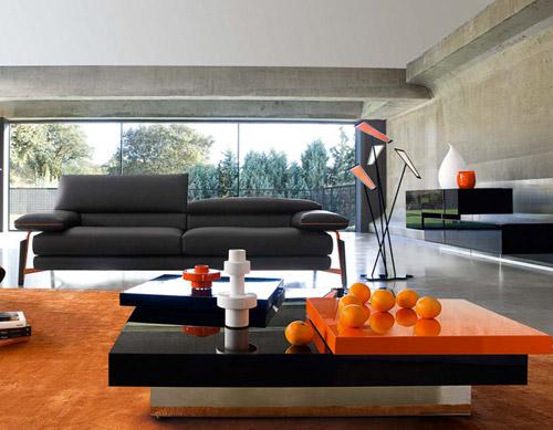 Arredamento moderno soggiorno zona living