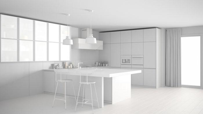 Arredamento moderno elegante in cucina