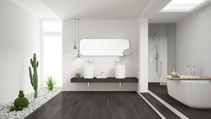 Arredamento moderno elegante nel bagno