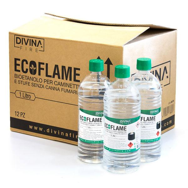 Bioetanolo per camini in confezioni da litro