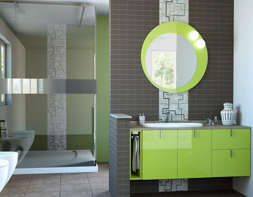 Bagno moderno in verde