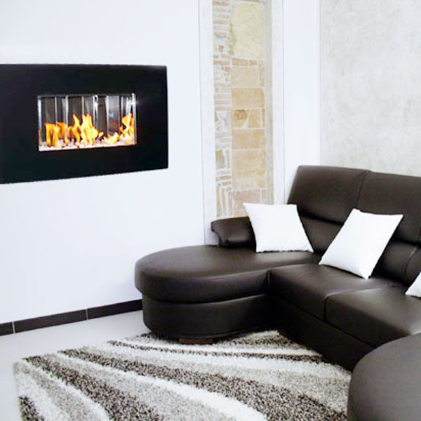 Biocaminetto per arredamento del soggiorno