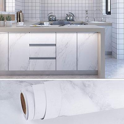 Carta adesiva per rivestire la cucina effetto Marmo