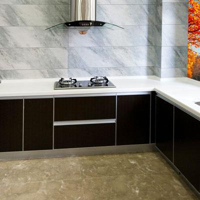Carta da parati per mobili autoadesiva per rinnovare la cucina - Carta per foderare mobili ...