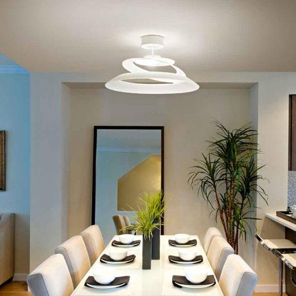 Plafoniera Moderna Fabas per illuminare casa con soffitti bassi